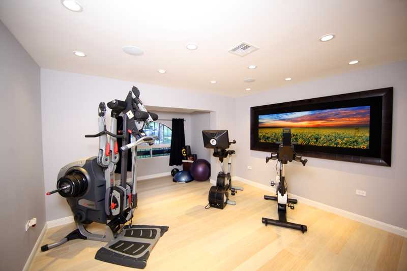 Third Bedroom currently used as a gym