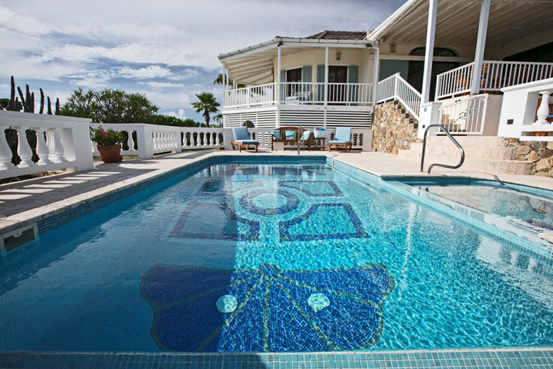 Custom Mosaic Glass Tile pool