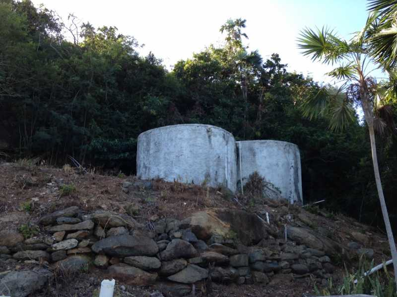 Cisterns in place on upper homesite location
