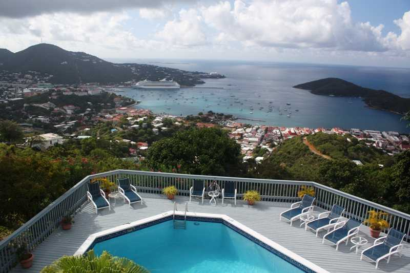 Incredible views over Charlotte Amalie St. Thomas