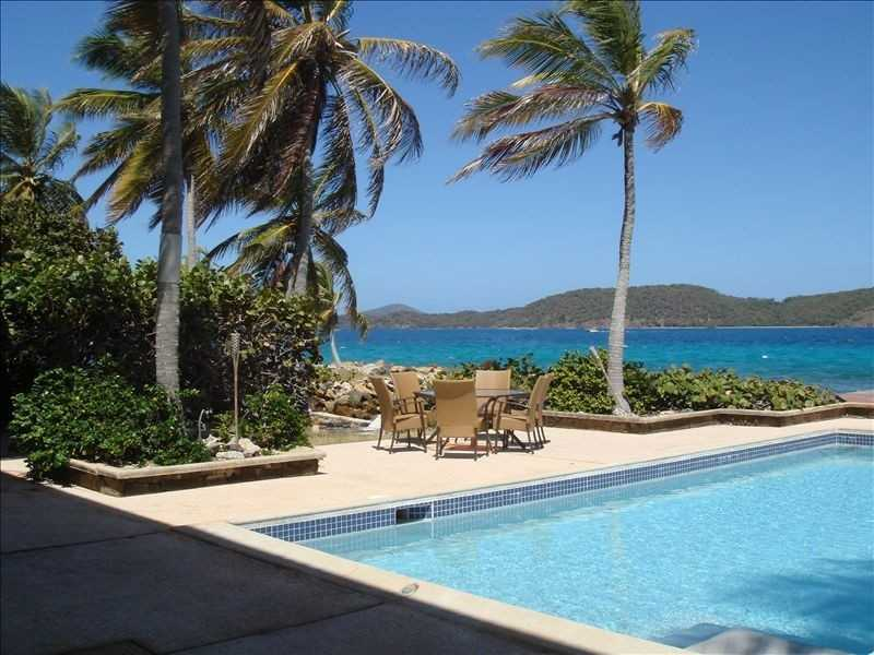 another view of the pool and views towards the BVI and St John