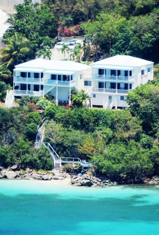 Close up of St. Thomas home for sale on Magens Bay