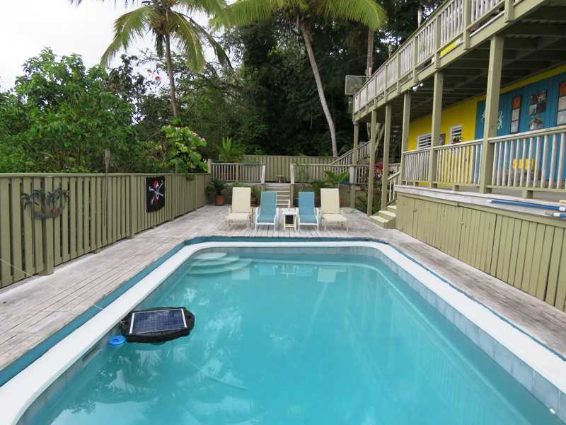 Large Pool in USVI home for Sale