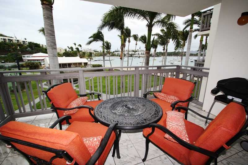 outdoor dining with great views, steps from the beach