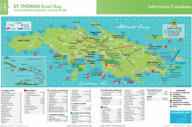 Virgin Islands Maps   St. Thomas Virgin Islands Real Estate