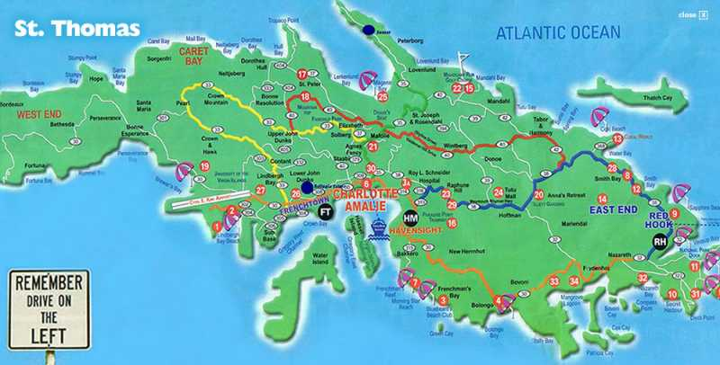 st-thomas-map | Going to... the US Virgin Islands | Pinterest